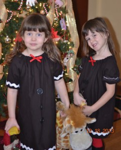 Olivia and Aubrey, 5.