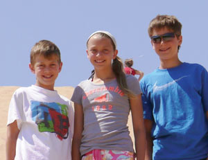 Dylan, 10, Brittany and Blake, 12.