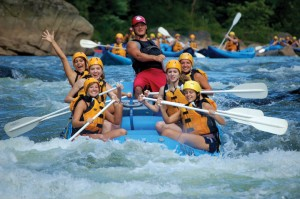 White water rafting at Youghiogheny River Ohiopyle State Park.