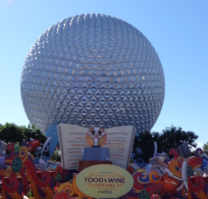 Epcot Ball during Food and Wine Fest