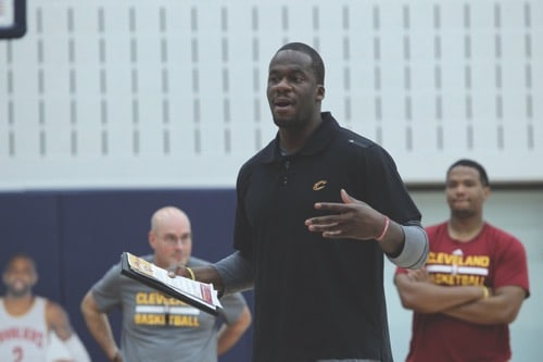 Timeout with cavs academy head coach kendall chones