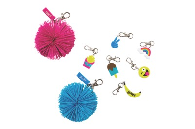 school supplies: fun and crazy keychains