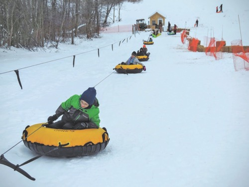 sled hills in ohio