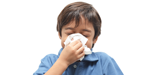 flu symptoms and treatment for kids