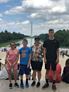 The kids exploring Washington DC