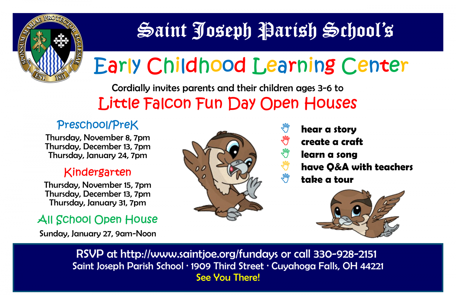 Little Falcon Fun Day For Prek Open House Northeast Ohio Parent