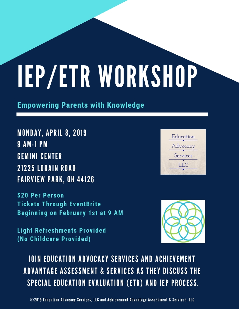 Empowering Parents In Special Education >> Iep Etr Workshop Empowering Parents With Knowledge Northeast Ohio